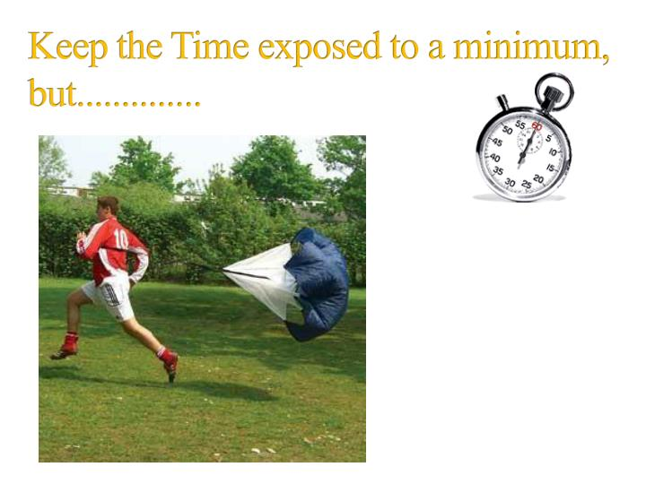 Keep the Time exposed to a minimum, but..............