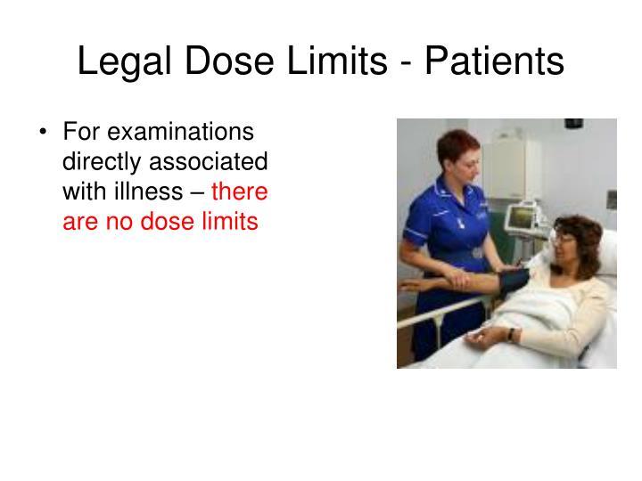 Legal Dose Limits - Patients
