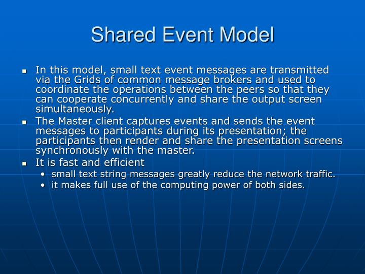 Shared Event Model