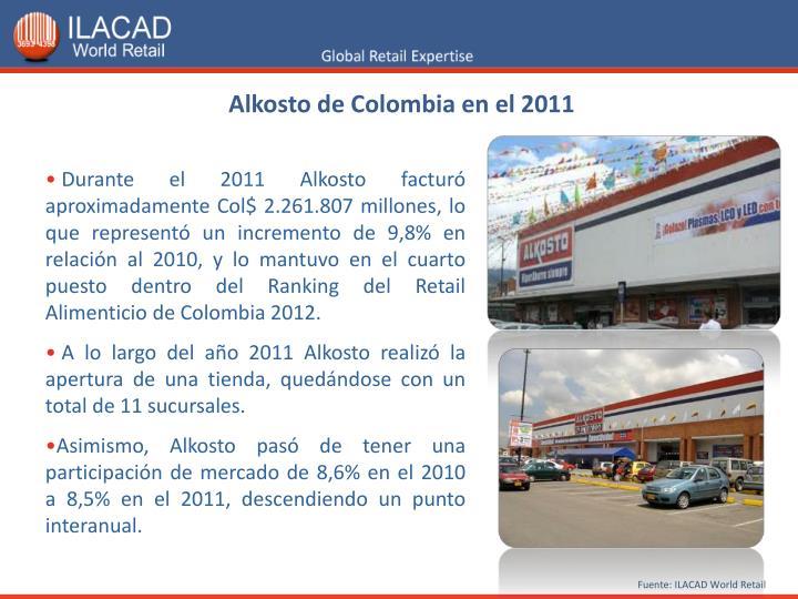 Alkosto de Colombia en el 2011