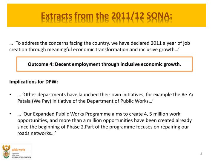 Extracts from the 2011 12 sona