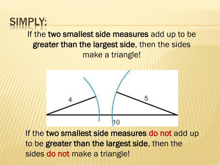 Ppt lesson 4 3 triangle inequalities exterior angles powerpoint presentation id 6632257 What do exterior angles of a triangle add up to