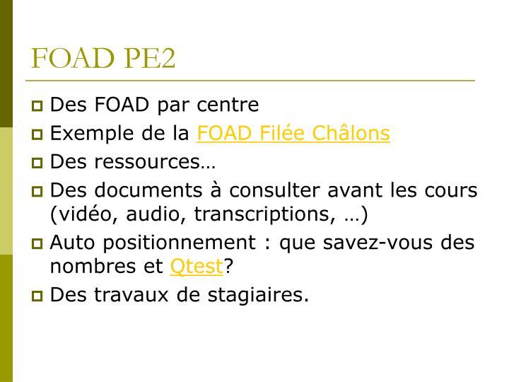 FOAD PE2