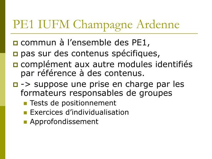 PE1 IUFM Champagne Ardenne