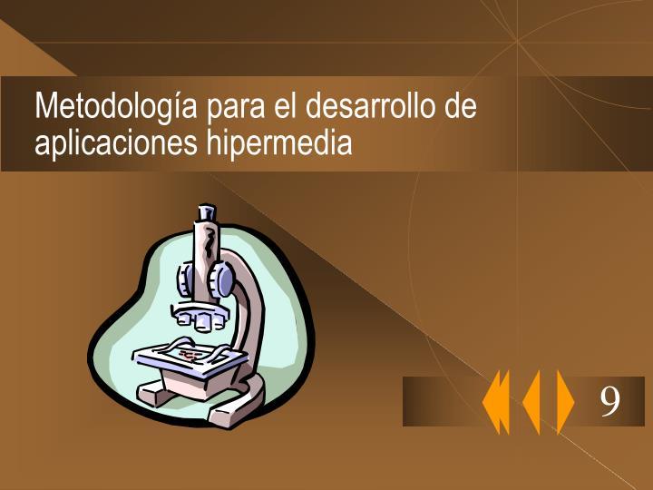 Metodología para el desarrollo de aplicaciones hipermedia