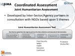 coordinated assessment joint humanitarian assessment