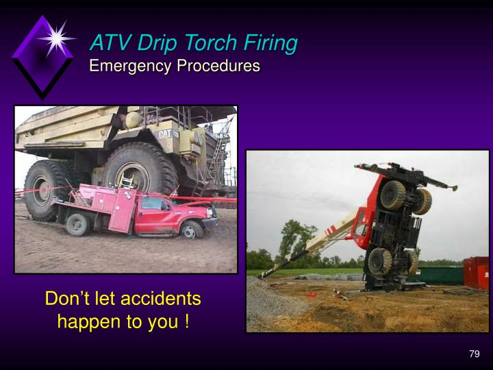 ATV Drip Torch Firing