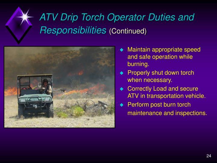 ATV Drip Torch Operator