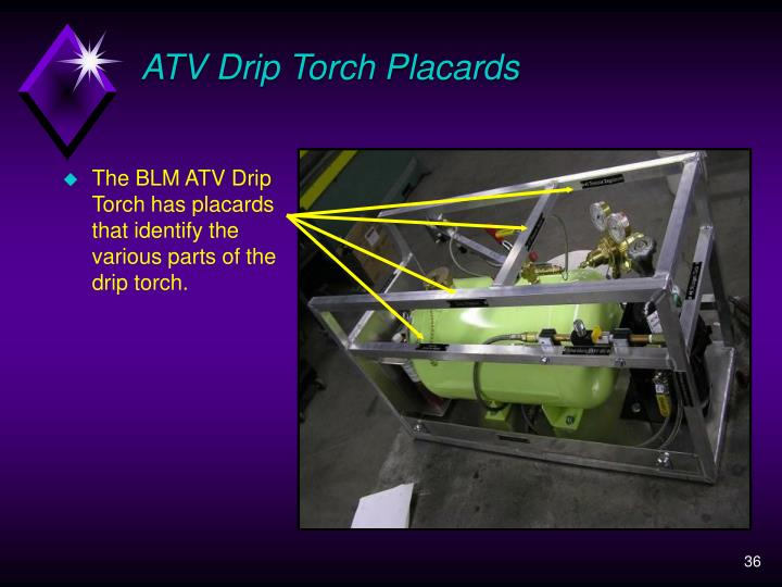 ATV Drip Torch Placards