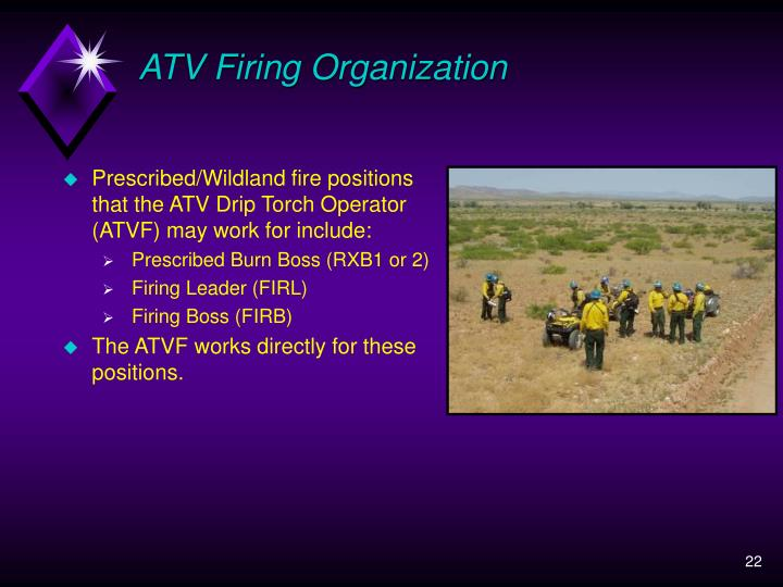 ATV Firing Organization