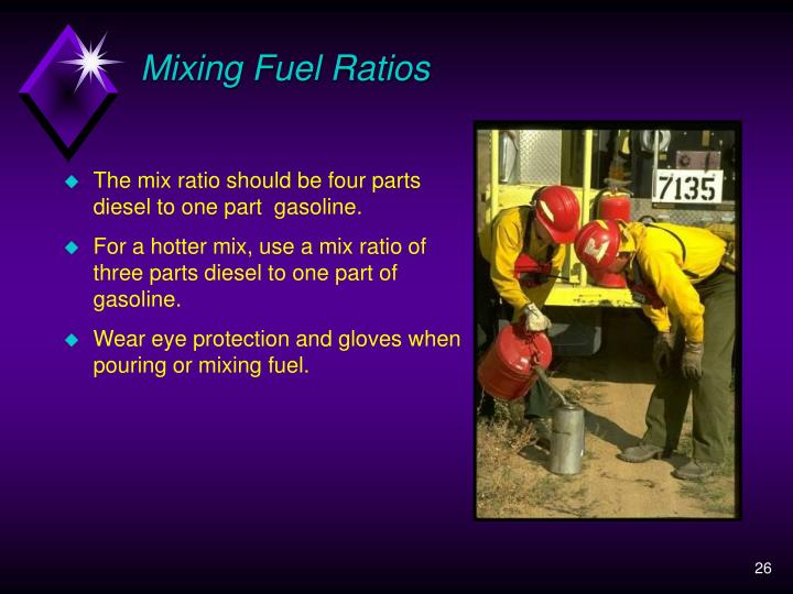 Mixing Fuel Ratios