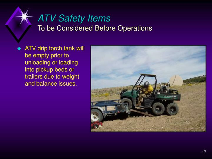 ATV Safety Items