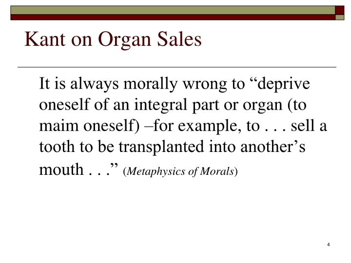 Kant on Organ Sales