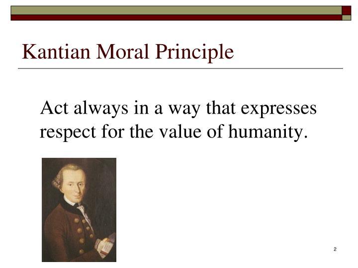 Kantian Moral Principle