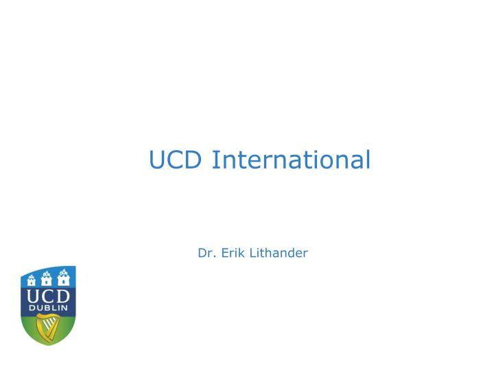 UCD International