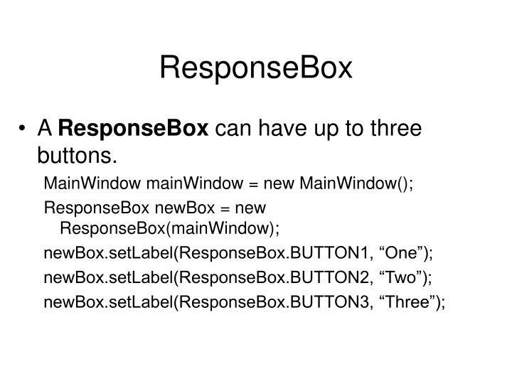 ResponseBox