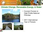 climate change renewable energy water