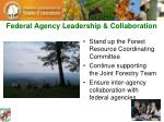 federal agency leadership collaboration