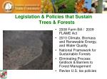 legislation policies that sustain trees forests