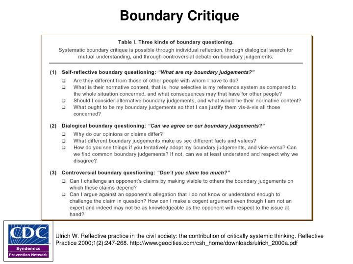 Boundary Critique