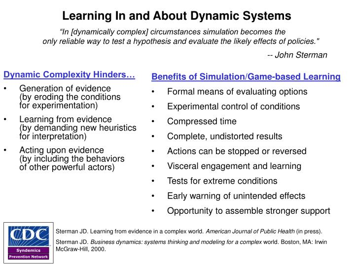 Learning In and About Dynamic Systems