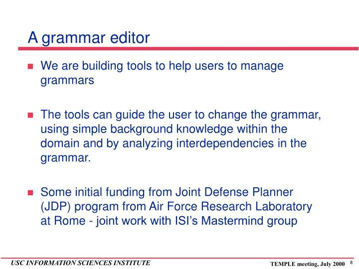 A grammar editor