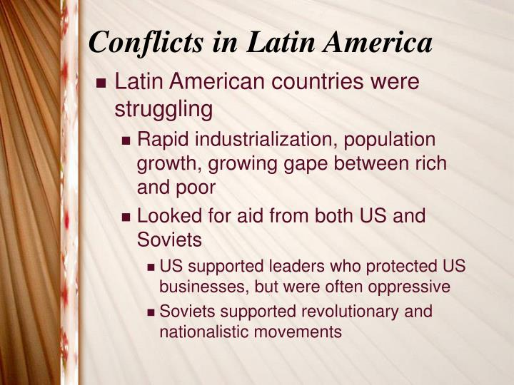 Conflicts in Latin America