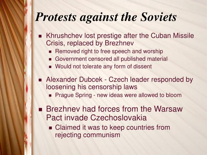 Protests against the Soviets
