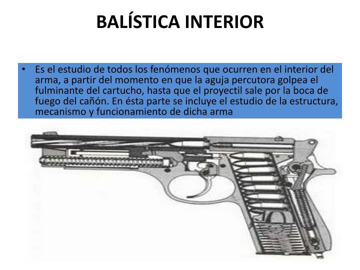 BALÍSTICA INTERIOR