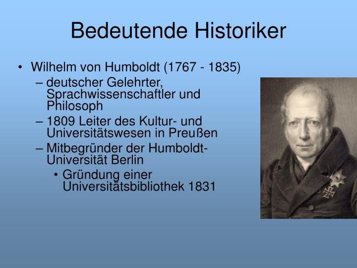 Bedeutende Historiker
