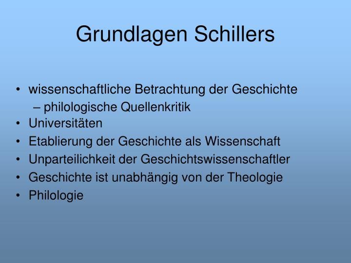Grundlagen Schillers