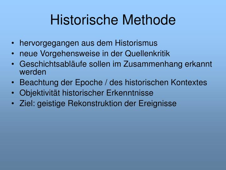 Historische Methode