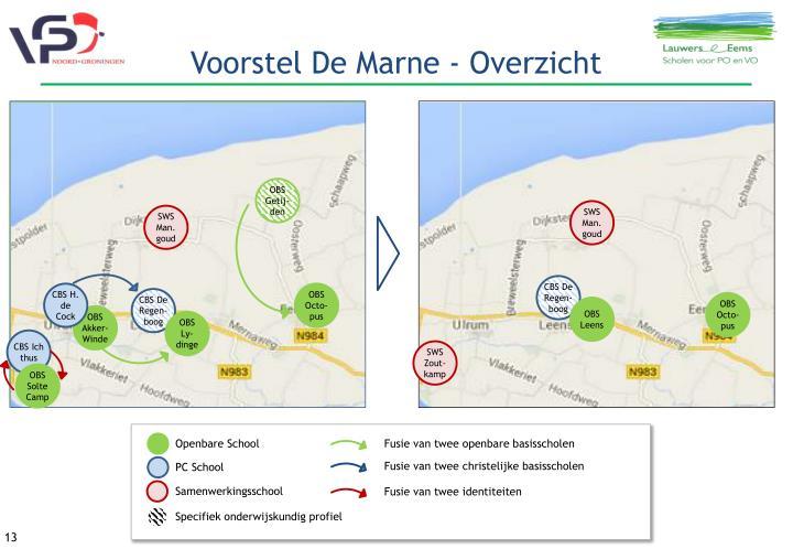 Voorstel De Marne - Overzicht