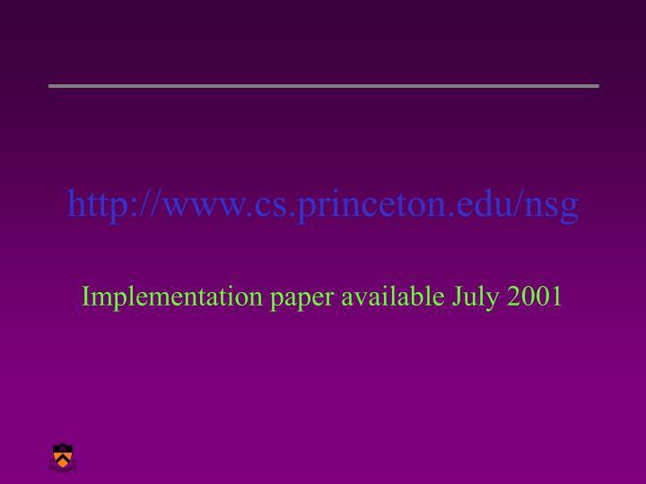 http://www.cs.princeton.edu/nsg