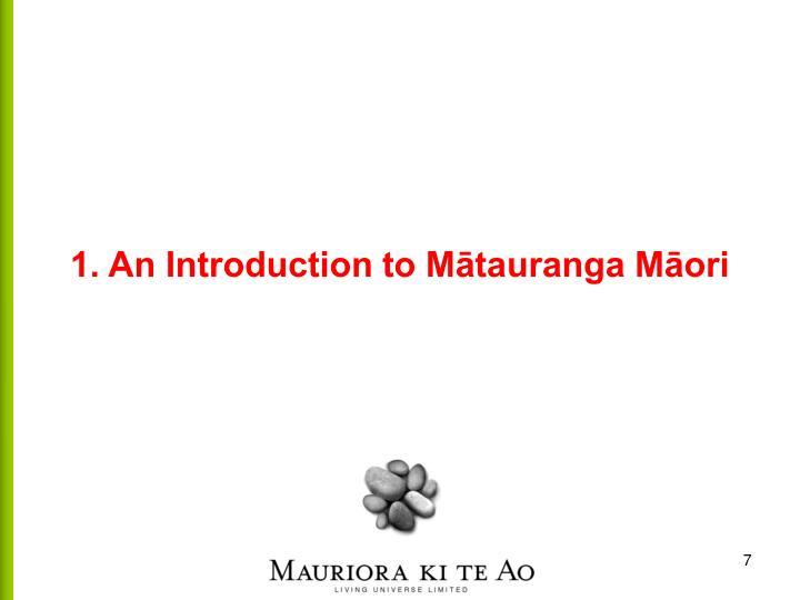 1. An Introduction to Mātauranga Māori