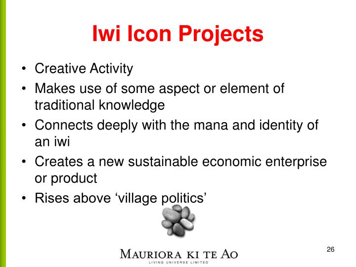 Iwi Icon Projects