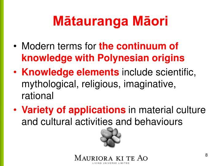 Mātauranga Māori