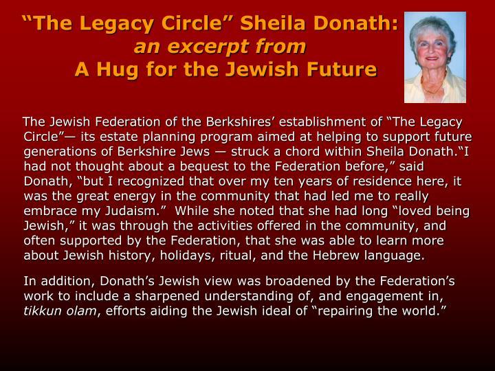 """The Legacy Circle"" Sheila"