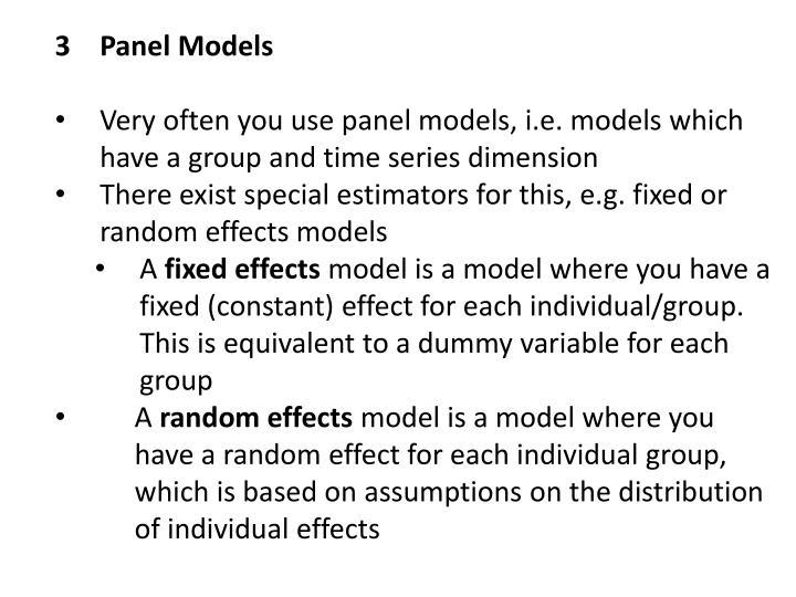 3Panel Models