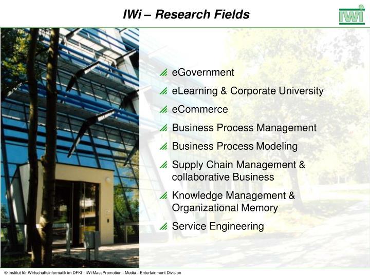 IWi – Research Fields