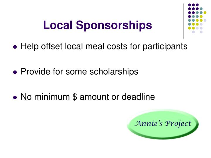 Local Sponsorships