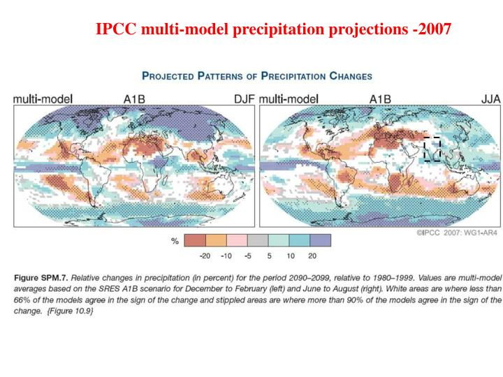 IPCC multi-model precipitation projections -2007