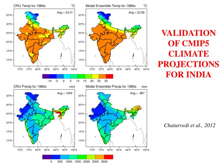 VALIDATION OF CMIP5 CLIMATE PROJECTIONS FOR INDIA