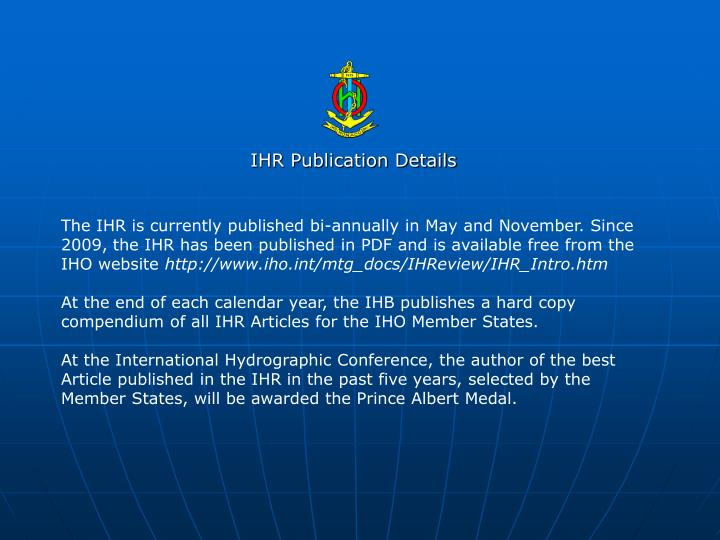 Ihr publication details