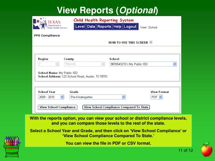 View Reports (