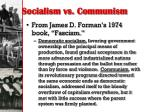 socialism vs communism