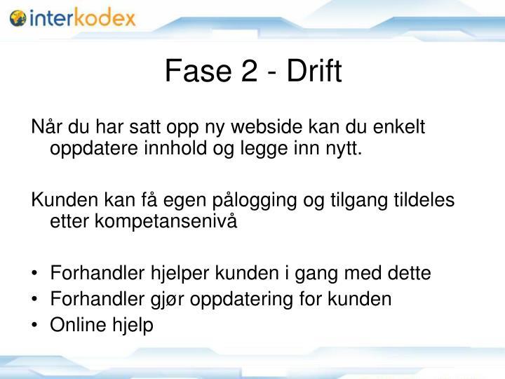 Fase 2 - Drift