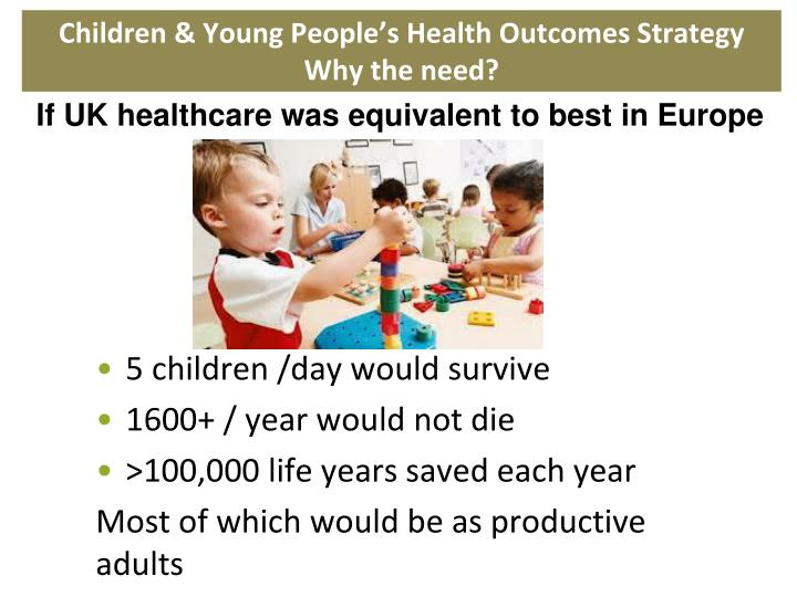 Children & Young People's Health Outcomes Strategy  Why the need?