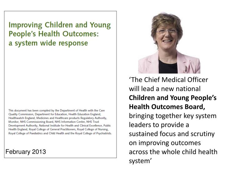 'The Chief Medical Officer will lead a new national