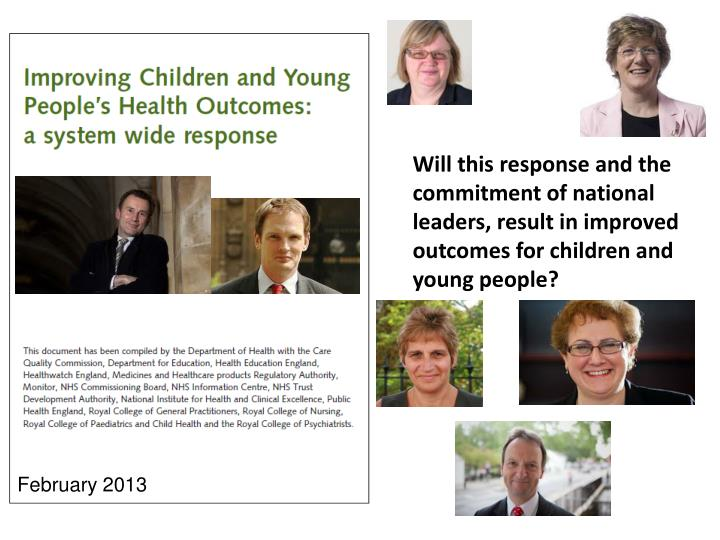 Will this response and the commitment of national leaders, result in improved outcomes for children and young people?